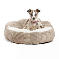 Best Friends by Sheri Cozy Cuddler, – Luxury Dog and Cat Bed with Blanket for Warmth and Security - Offers Head, Neck and Joint Support - Machine Washable, Water-Resistant Bottom - For Small Pets Up to 25lbs, Medium Pets Up to 35lbs Wheat Mason