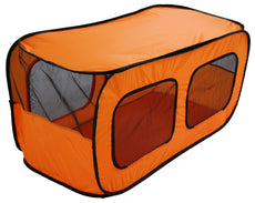 Pet Life Dual Mesh Window Wired Lightweight Collapsible Outdoor Multi-Pet Tent Orange Medium