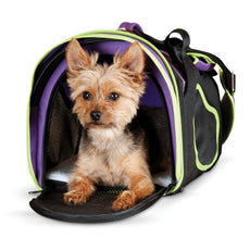 K&H Pet Products Comfy Go Carrier Purple/Black/Lime Green Medium