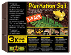 Exo Terra Plantation Soil, 8 Quarts, 3-Pack Original Version