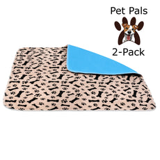 Pet-Pals 2-Pack Large Washable Reusable Waterproof Fast Absorbing Dog and Puppy Pee and Training Pads for Housebreaking, Travel, Incontinence.
