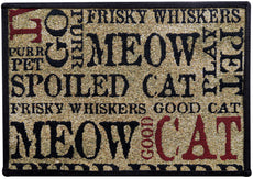 "PB Paws PET Collection by Park B. Smith Good Cat Tapestry Indoor Outdoor Pet Mat Sand 13"" x 19"""