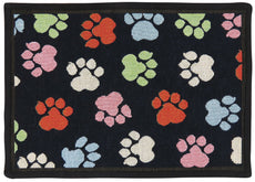 PB Paws PET Collection by Park B. Smith World Paws Tapestry Indoor Outdoor Pat Mat Black 13 x 19""