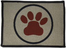 Park B. Smith PB Paws PET Collection PB Paws Tapestry Indoor Outdoor Pet Mat, 13 x 19, Taupe