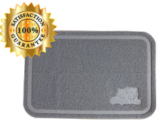 Simple Pets X-Large (35.4 inches x 23.5 inches) Cat Litter Box Mat|Litter Trap design, waterproof, easy to clean, multi cat approved. Gray