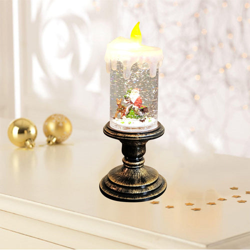 Christmas Snow  Candle Light  for Home Decoration - Soldify