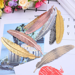 7Pcs Bookmark Metal Feather - Soldify