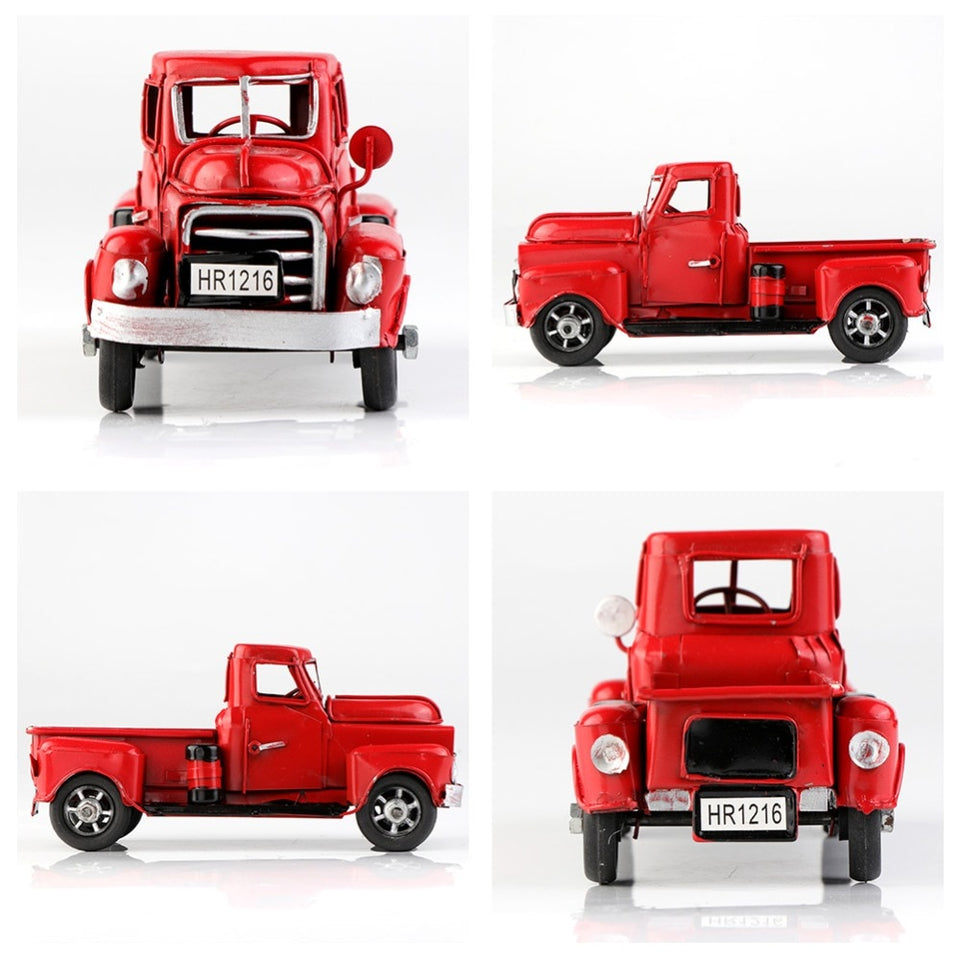 Little Red Metal Truck Christmas Decor - Soldify