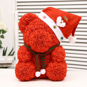 Christmas  Bear of Roses for Valentine's day Gift - Soldify