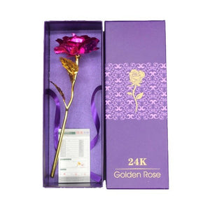 Valentine's Day Gift 24K Gold Plated Rose Flower - Soldify