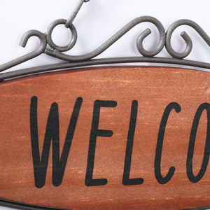 Welcome Sign Home Wall Art Garden Cafe Vintage Board - Soldify