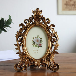 Old Elliptic Resin Home Staircase Creative Classical Photo Frames - Soldify