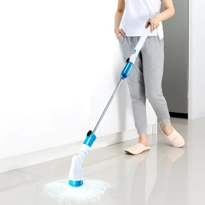 Electric Power Cleaning Scrubber With Extension Handle - Soldify