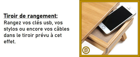 table ordinateur lit bois