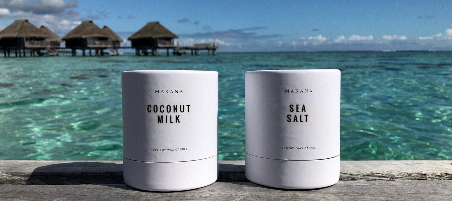 Coconut Milk and Sea Salt Candles in Tahiti