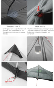 Ultralight Camping Tent Choose 1 or 2 Person Size
