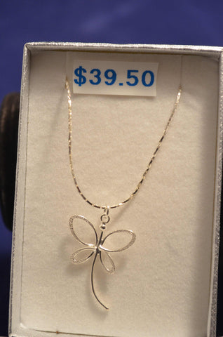Fine Dragonfly Necklace