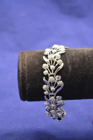 Plated Silver Thick Wattle Bracelet