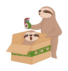 Sloth in a Box to be delivered