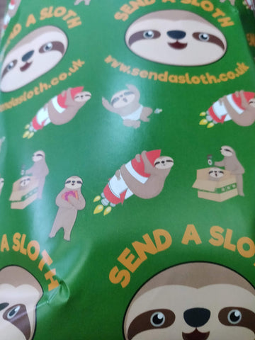 Sloth Gift Wrapping Paper