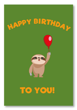 Load image into Gallery viewer, Send a Sloth Birthday Card