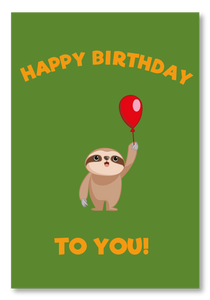 Send a Sloth Birthday Card
