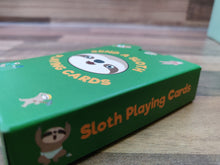 Load image into Gallery viewer, Sloth Playing Cards with Laminated Tuck Box