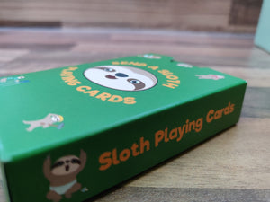 Sloth Playing Cards with Laminated Tuck Box