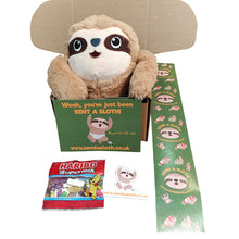 Load image into Gallery viewer, Send a Sloth Gift Box with Sloth Packing Tape