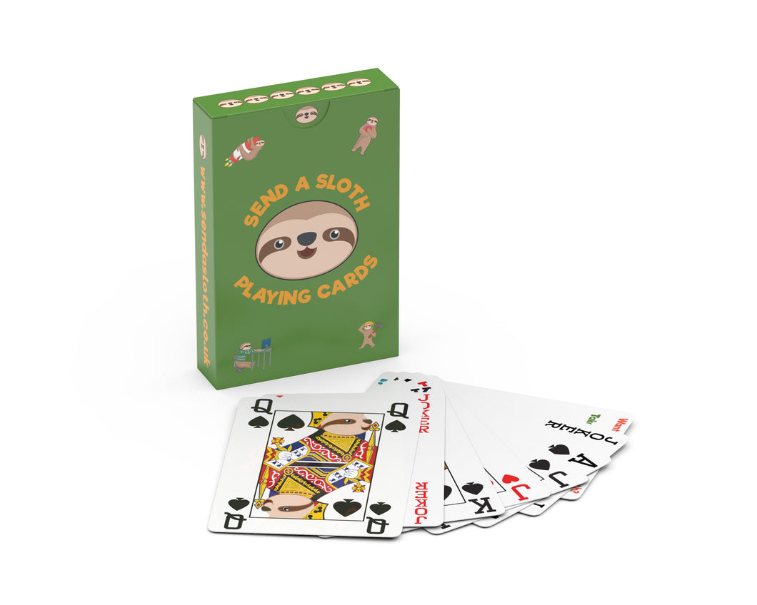 Sloth Playing Cards Gift Idea