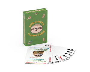 Funny Sloth Gift Poker Cards