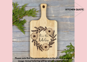 Semi-Personalized Beechwood Cutting Board | Wood Burned | Daisy Laurel