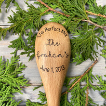 Load image into Gallery viewer, Personalized Wooden Spoon | Wood Burned | Newlywed Gift