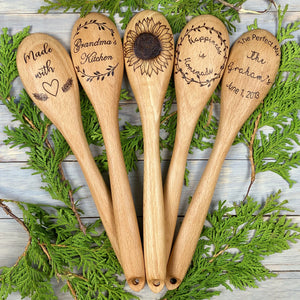 Personalized Wooden Spoon | Wood Burned | Newlywed Gift