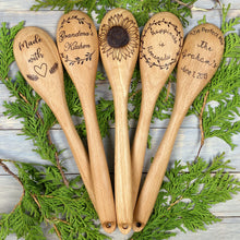 Load image into Gallery viewer, Wooden Spoon | Wood Burned | Made With Love