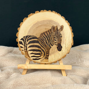 Zebra Sign | Live Edge | Ash Sign