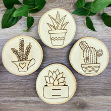 Load image into Gallery viewer, Succulent Coasters - Set of 4