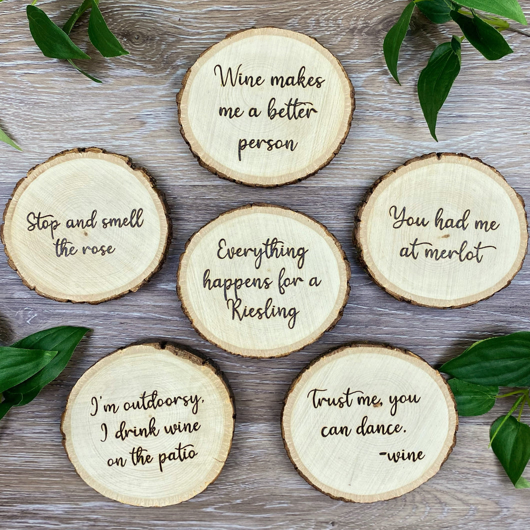 Wine Coasters - Set of 6