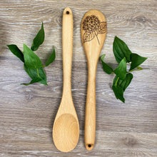 Load image into Gallery viewer, Hydrangea Wooden Spoon