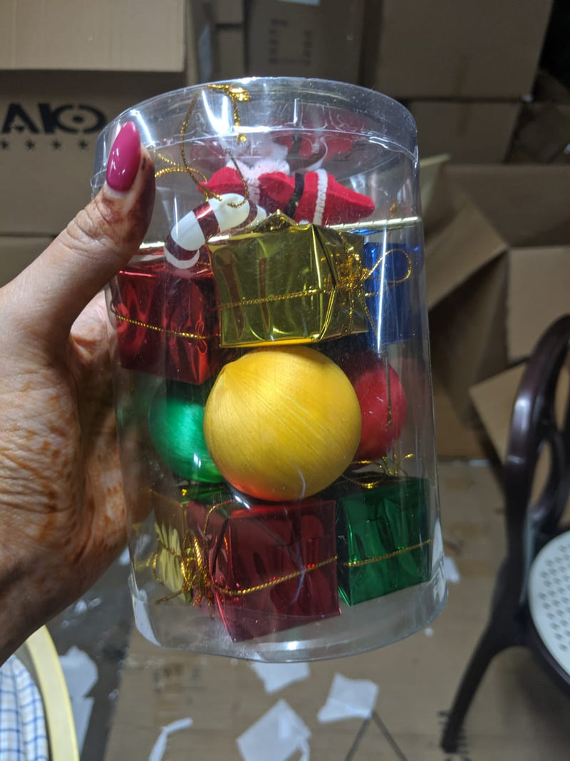 Assorted Tree Decoration Box (Santa, Candy, Balls and Gift Boxes)