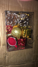 Assorted Tree Decoration Box (Pines, Gift Boxes, Santa, Bells, Balls and Drums)