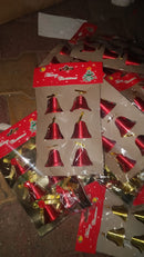 Christmas Single Bells for Tree Decoration Pack of 6 (Gold and Red )
