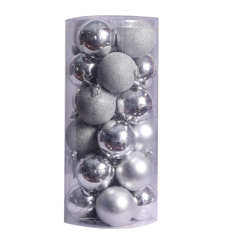 Christmas Balls Ornaments Pack of 20 (Gold, Silver and Red)