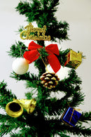 Assorted Tree Decoration Box (Bells, Balls, Bow, Pine, Gift Boxes and Merry Christmas)