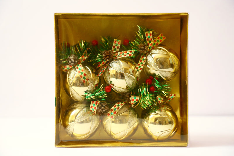 Christmas Ball Ornaments Pack of 6