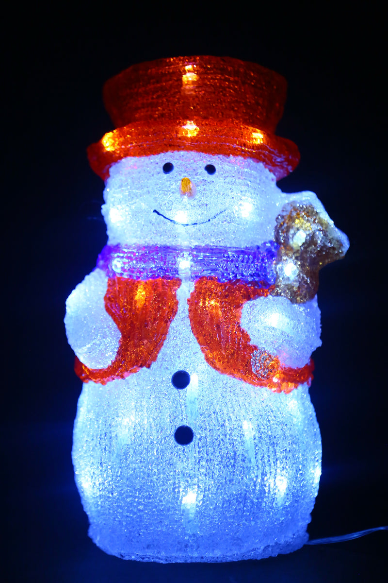Snowman LED Light Figurine