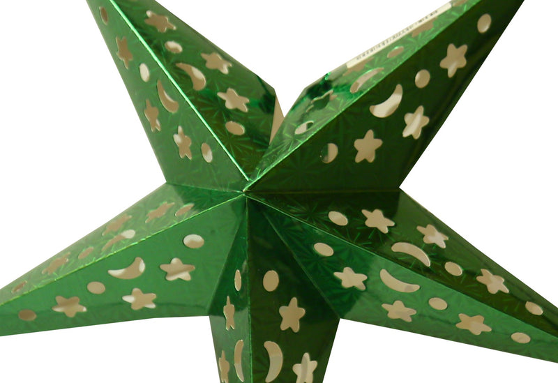 Foldable Paper Star 90 cm (Colors available Red , Gold , Silver , Blue , Pink , Green)