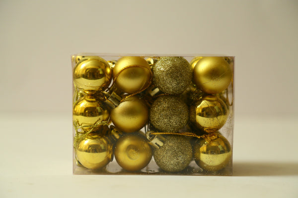 Christmas Balls Ornaments Pack of 24 (Red, Silver and Gold)