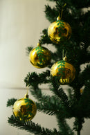 Christmas Balls Ornaments Pack of 6 (Red, Gold and Silver)