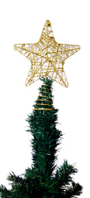 Metal Star Tree Topper (Gold and Silver)